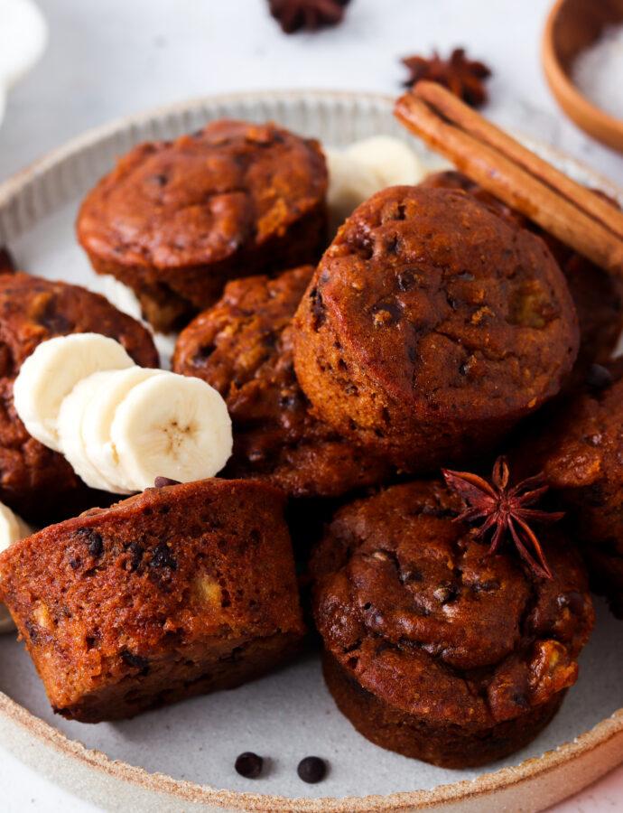 paleo pumpkin muffins on a plate