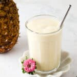 mango pineapple smoothie in a cup