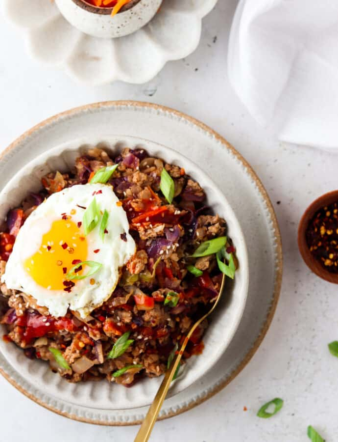 Paleo Egg Roll In A Bowl (Whole30, Keto)
