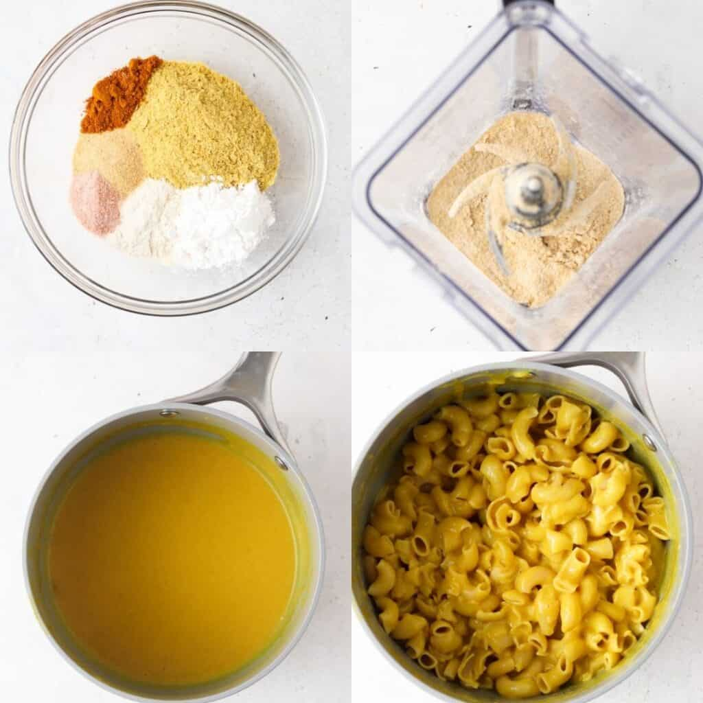 step by step photos of how to make aip mac and cheese