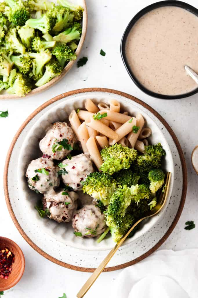 whole30 swedish meatballs in a bowl
