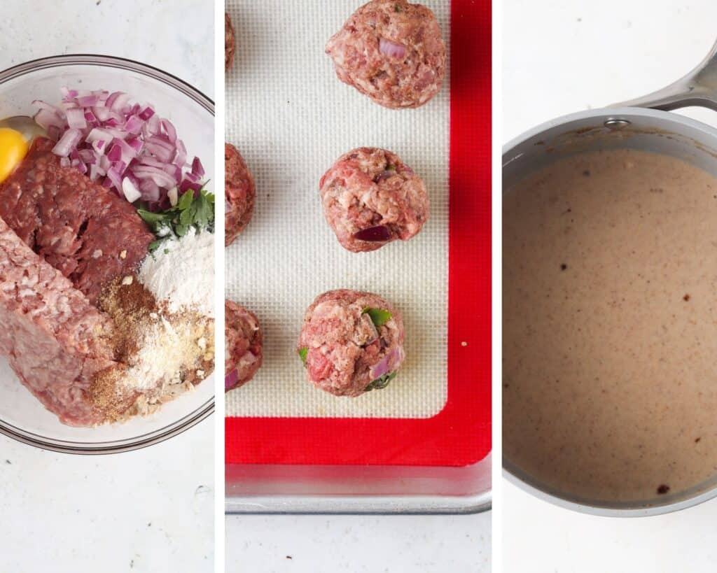 step by step process photos how to make paleo swedish meatballs