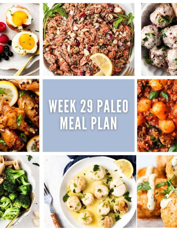 Paleo Meal Plan Week 29