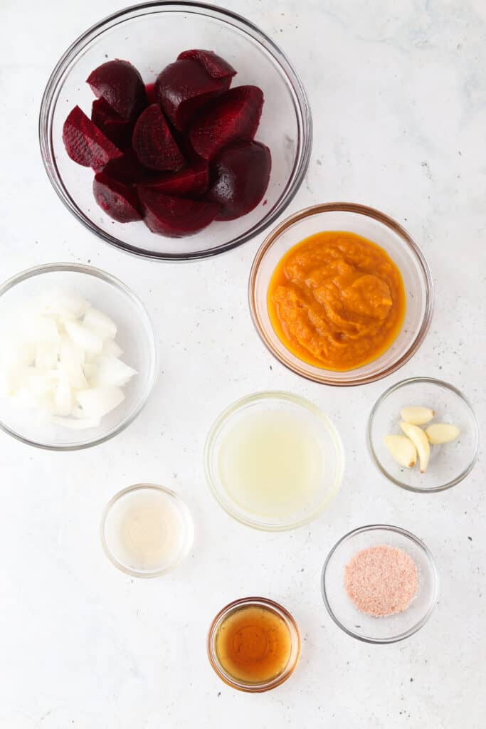 aip ketchup ingredients in bowls