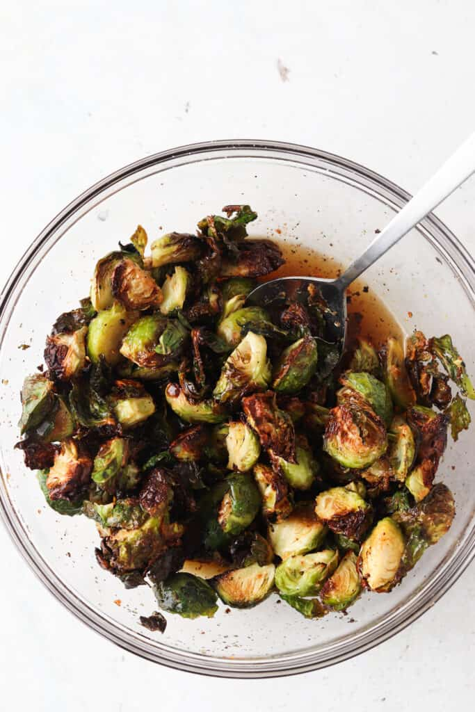 brussel sprouts in maple syrup